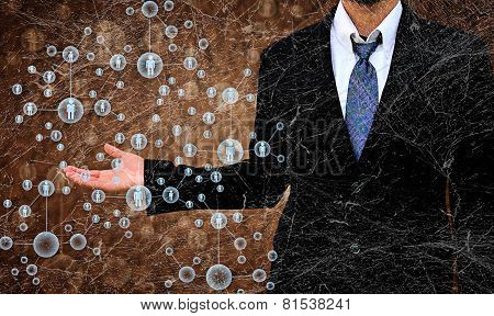 Businessman Choosing The Right Person In The Old Tex Ture