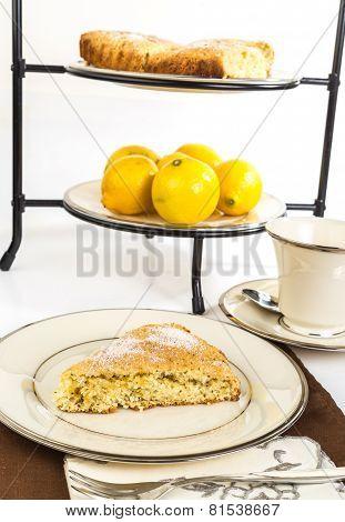 Lemon Curd on Scones with Hot Tea