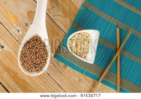 Coriander And  Lemon Grass