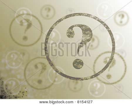 Question Mark Background Sepia