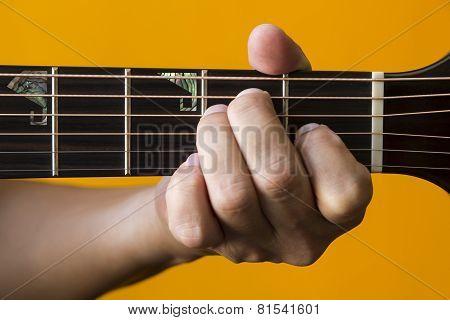 E chord on guitar