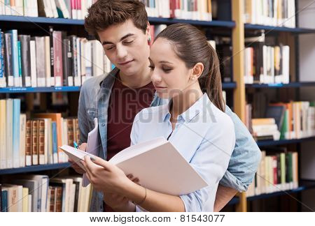 Teen Students At The Library