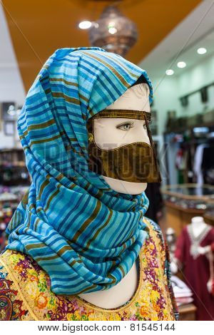 Arabic Women Face Mask