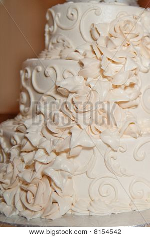 White Wedding Cake Close Up