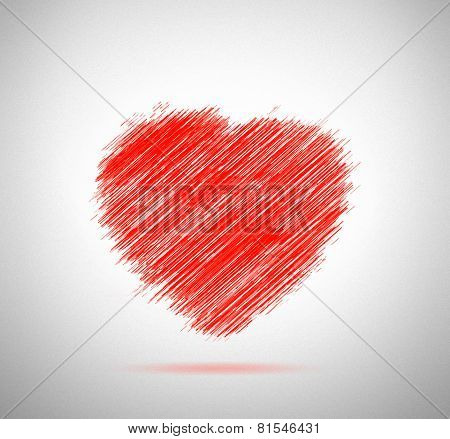 Greeting Red Heartshape In Original Version