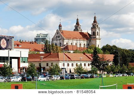Vilnius Archangel Church On The Board River Neris. Lithuania.
