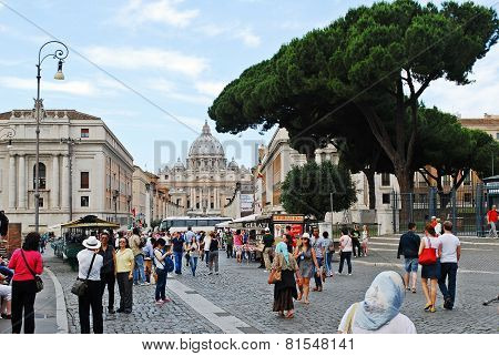 Rome City Street Life On May 30, 2014