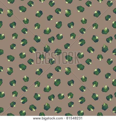 broccoli seamless pattern