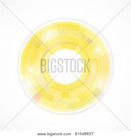 Abstract Futuristic Background With Technology Circles