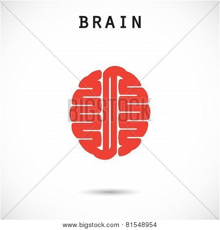 Creative Brain Abstract Vector Logo Design
