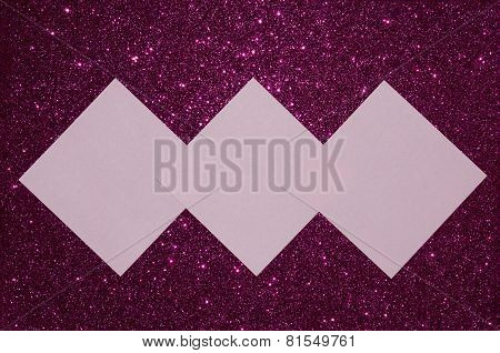 Reminder notes on glitter background