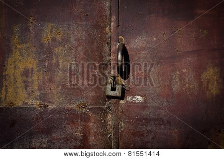Old Metal Door With Rust