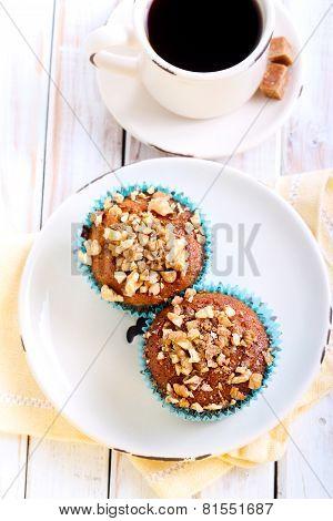 Walnut And  Honey Muffins