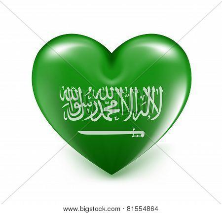 Love Saudi Arabia Hearts Balloons Flag