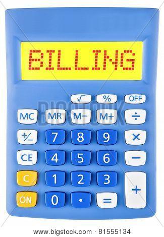 Calculator With Billing
