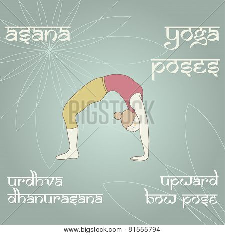 Urdhva Dhanurasana. Upward Bow (wheel) Pose.