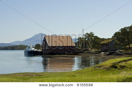 Boats in a island bay