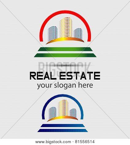 Skyscraper house logo
