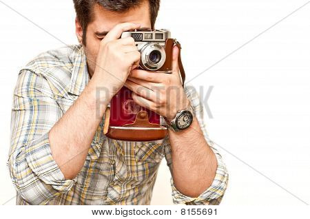 Photographer With A Vintage Camera