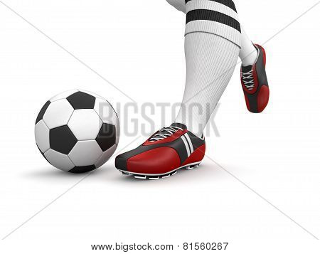 Man with a soccer ball (clipping path included)