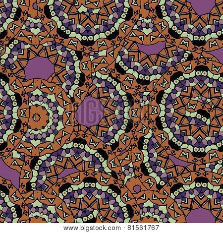 Abstract unusual mandala kaleidoscope symmetrical colorful decoration vector wallpaper
