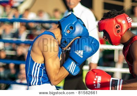 A Boxing Match Between Alayn Limonta (havana, Cuba) And Mamedov Gabil (orenburg, Russia)