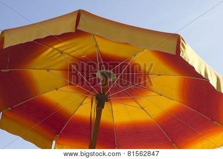 Red And Yellow Beach Umbrella