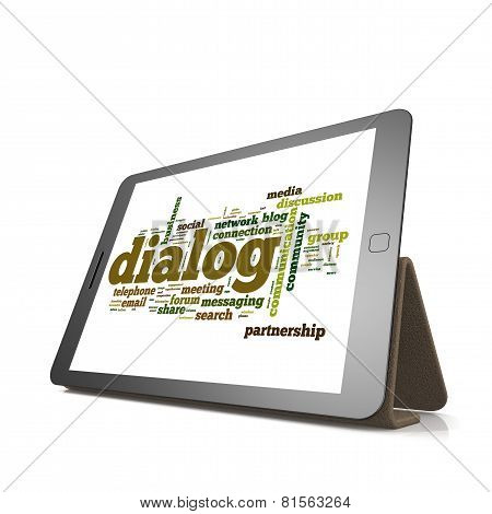 Dialog Word Cloud On Tablet