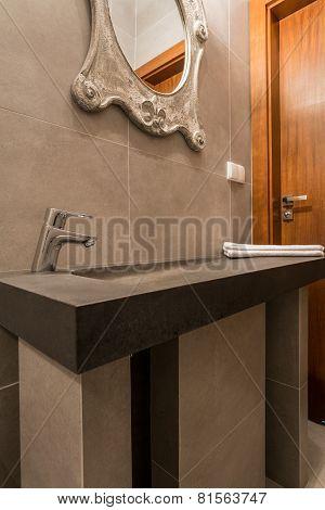 Modern Washbasin In Luxury Bathroom