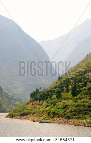 Mountains At Yangtze River In China