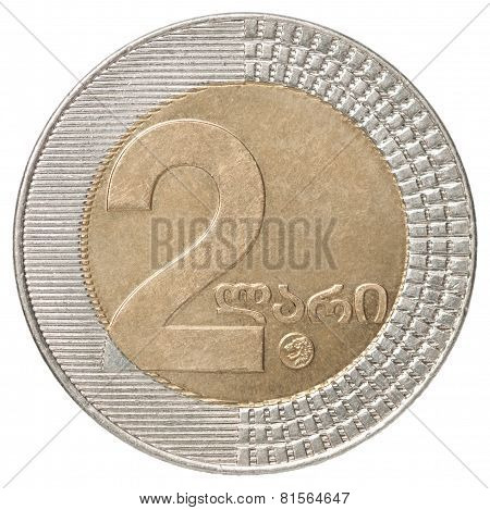 Georgian Lari Coin