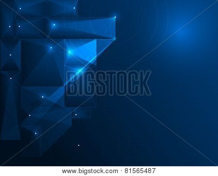 Abstract Technology Background-cyberspace