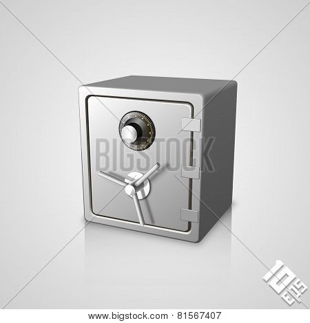 Closed safe icon