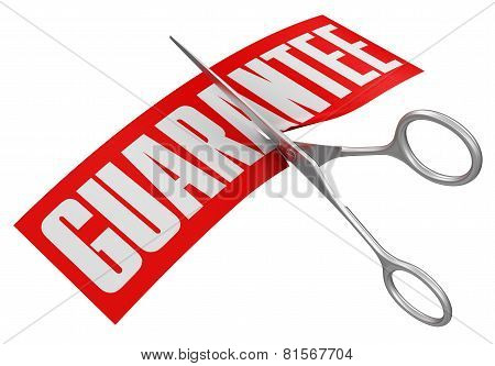 Scissors and Guarantee (clipping path included)