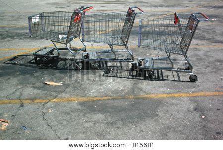 Three Shopping Carts