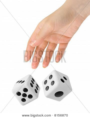 Hand Throwing Two Dices
