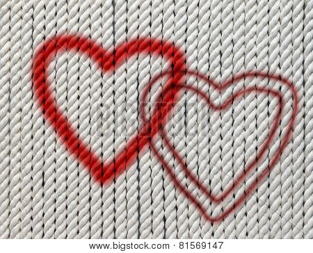 Hearts On Cotton Twine