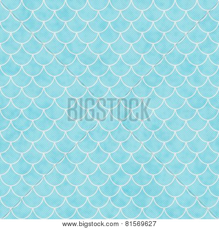 Teal And White Shell Tiles Pattern Repeat Background