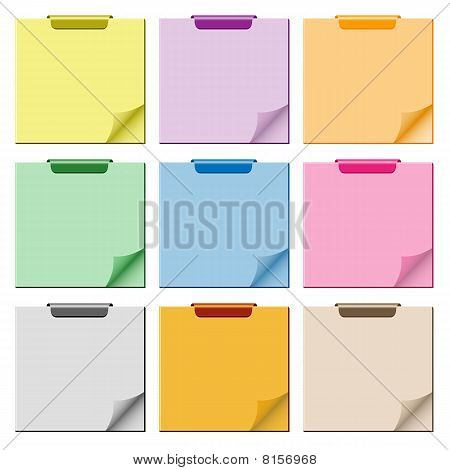 Notepad with page curl set