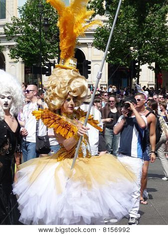 Gay Pride Parade Day 2010 In Central London 1St July 2010