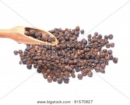 Black Peppercorn Isolated On White Background