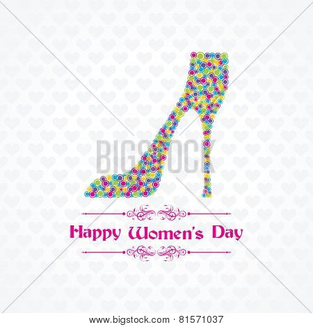 Womans day greeting stock vector