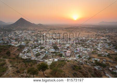 Sunset In Pushkar City, India