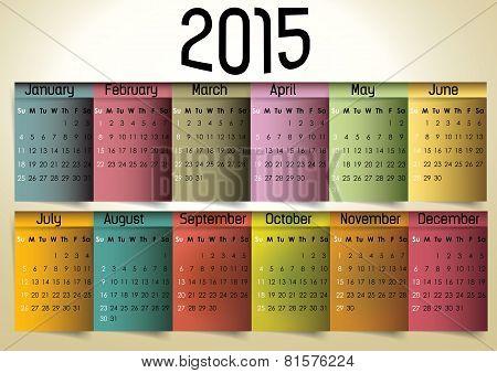 Colorful Calendar
