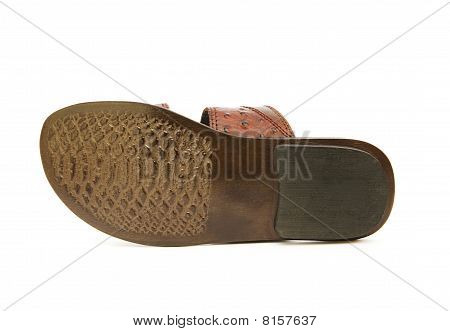 Sole Of Shoe Isolated On The White Background