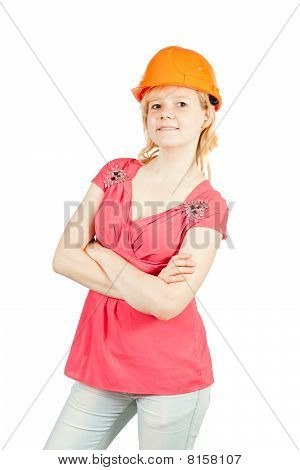 Girl In Orange Hard Hat