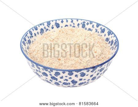 Wholemeal Flour In A Blue And White China Bowl