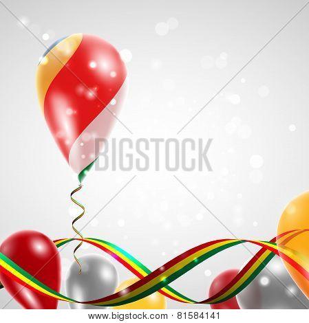 Flag of Seychelles on balloon