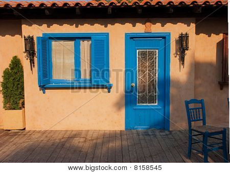 Traditionally Decorated House In Greece