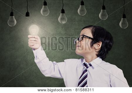Smart Student With Bright Idea